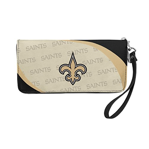 NFL New Orleans Saints Curve Zip Organizer Wallet