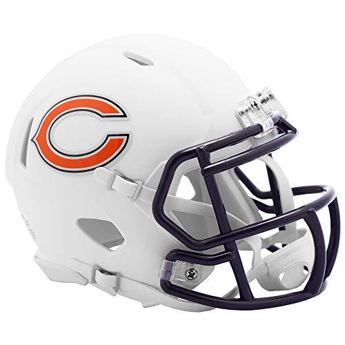 Riddell Chicago Bears White Flat Matte Alternate Speed Mini Football Helmet