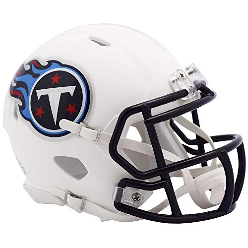 Riddell Tennessee Titans White Flat Matte Alternate Speed Mini Football Helmet