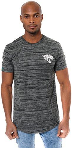 Ultra Game Men's NFL Active Basic Space Dye Tee Shirt, Jacksonville Jaguars, Black Space Dye, Large