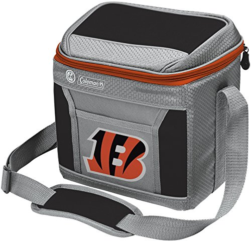 Coleman NFL Soft-Sided Insulated Cooler and Lunch Box Bag, 9-Can Capacity, Cincinnati Bengals