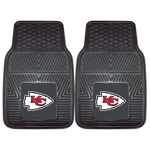 FANMATS NFL Kansas City Chiefs Vinyl Heavy Duty Car Mat,18'x27'
