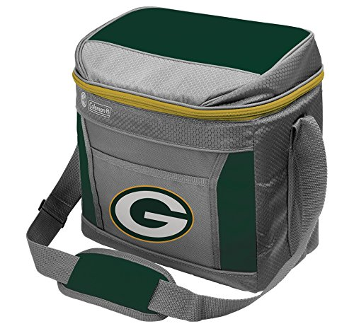 Coleman NFL Soft-Sided Insulated Cooler Bag, 16-Can Capacity, Green Bay Packers
