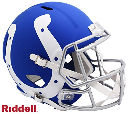 Indanapolis Colts AMP Alternate Series Riddell Speed Full Size Replica Football Helmet - NFL Replica Helmets