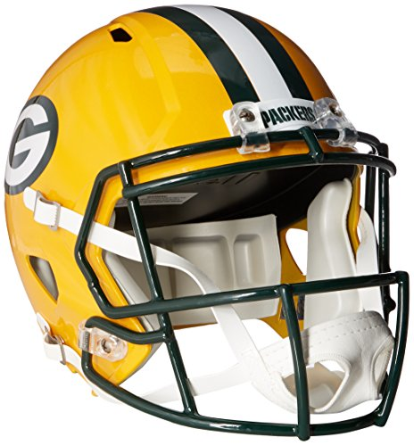 Riddell NFL Green Bay Packers Full Size Replica Speed Helmet, Medium, Green