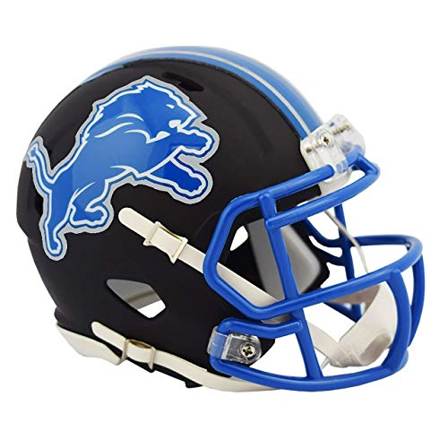 Detroit Lions Unsigned Flat Matte Black Speed Mini Helmet Stock #148090