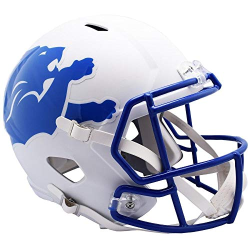 Unsigned Detroit Lions AMP Alternate Revolution Full Size Speed Replica Helmet Stock #154964 - NFL Replica Helmets