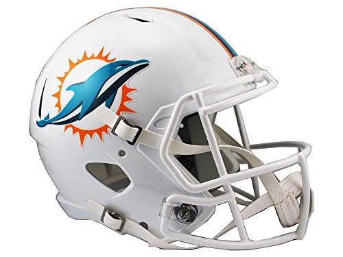Riddell NFL Miami Dolphins Full Size Replica Speed Helmet, Medium, Green