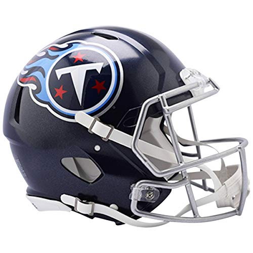 Riddell NFL Tennessee Titans Authentic Full Size Speed Style Helmet, Team Colors, One Size