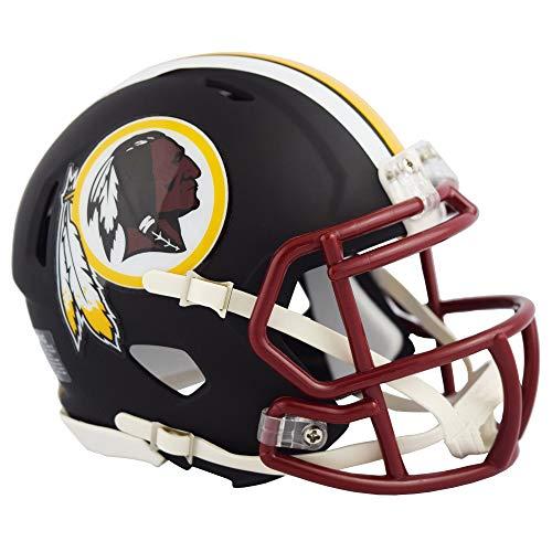 Washington Redskins NFL Black Matte Alternate Speed Mini Football Helmet