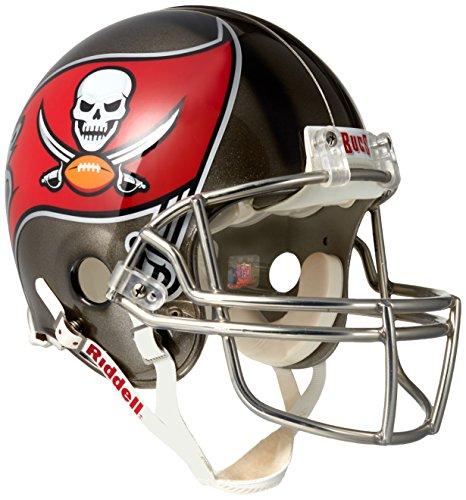 Riddell NFL Tampa Bay Buccaneers Authentic Proline Full Size Helmet, Medium, Black/Red