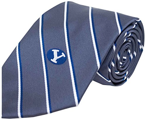 Donegal Bay NCAA BYU Cougars Striped Tie, One Size, Charcoal