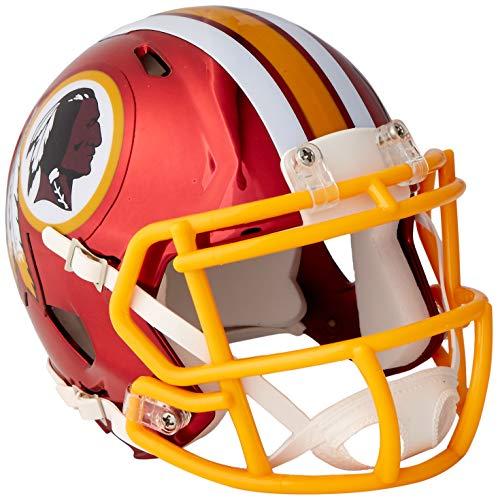 Riddell Speed NFL Washington Redskins Football Helmet Chrome Mini