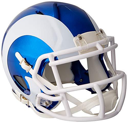 Riddell Speed NFL LOS ANGELES RAMS Football Helmet Chrome Mini