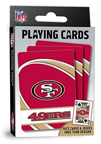 MasterPieces NFL San Francisco 49ers Playing Cards,Red,4' X 0.75' X 2.625'