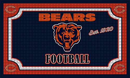 Team Sports America 41EM3805 Chicago Bears Embossed Door Mat