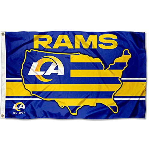 WinCraft Los Angeles Rams Nation USA American Country 3x5 Flag