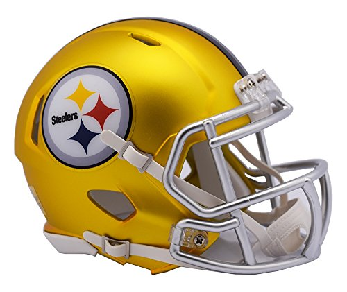 NFL Pittsburgh Steelers Alternate Blaze Speed Mini Helmet
