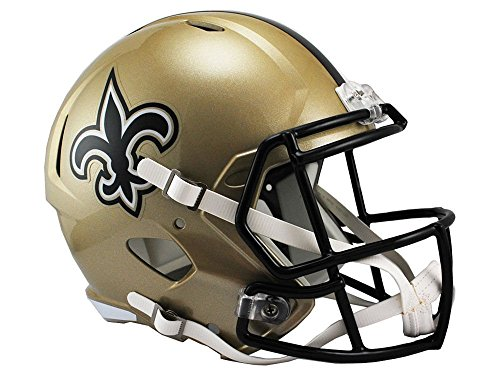 Riddell NFL New Orleans Saints Full Size Replica Speed Helmet, Medium, Gold