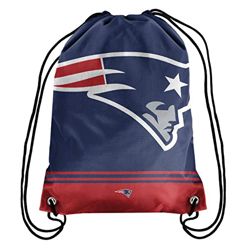 New England Patriots Big Logo Drawstring Backpack – Limited Edition FOCO Patriots Bag – NFL Gear for the AFC East Division – Show Your Team Spirit with Officially Licensed NE Patriots Fan Gear