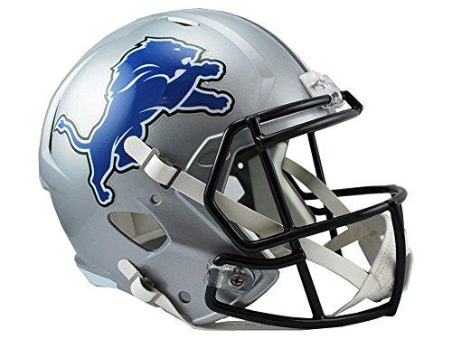 Riddell NFL Detroit Lions Full Size Replica Speed Helmet, Medium, Silver