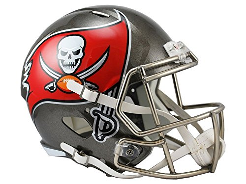 Riddell NFL Tampa Bay Buccaneers Full Size Replica Speed Helmet, Medium, Red