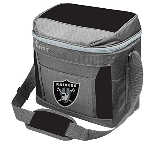 Coleman NFL Soft-Sided Insulated Cooler Bag, 16-Can Capacity, Oakland Raiders