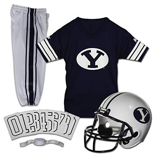 Franklin Sports NCAA BYU Cougars Kids College Football Uniform Set - Youth Uniform Set - Includes Jersey, Helmet, Pants - Youth Medium