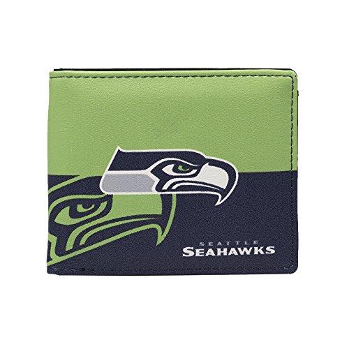 Littlearth NFL Seattle Seahawks Bi-fold Wallet,Navy,5' x 4' x 1'