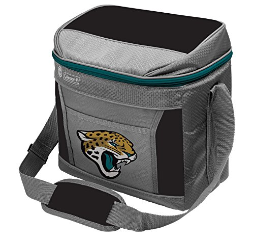Coleman NFL Soft-Sided Insulated Cooler Bag, 16-Can Capacity, Jacksonville Jaguars
