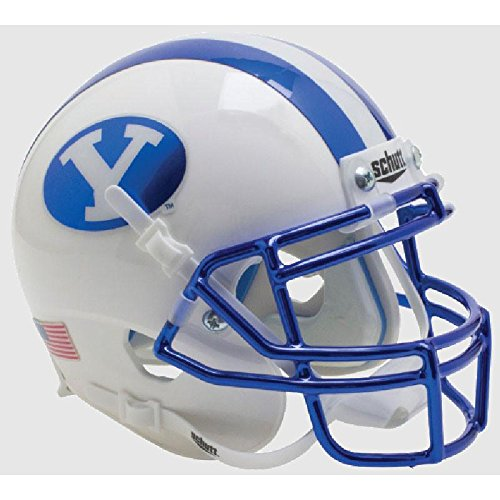 BYU Cougars Chrome Blue Officially Licensed Full Size XP Replica Football Helmet