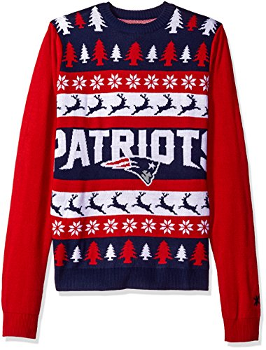 NFL New England Patriots WORDMARK Ugly Sweater, Large
