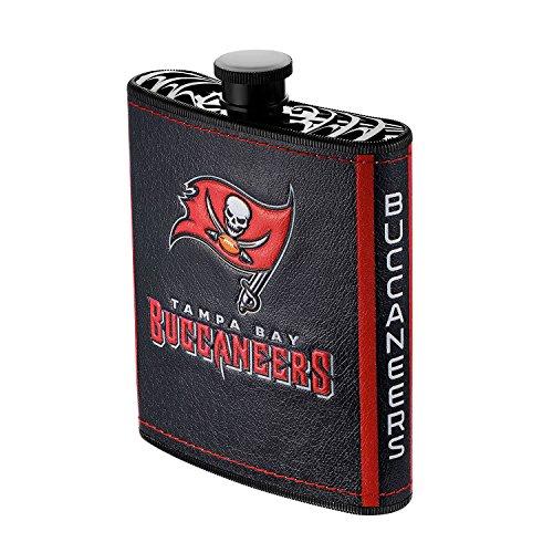 Pro Specialties Group NFL Tampa Bay Buccaneers Plastic Hip Flask, 7-Ounce