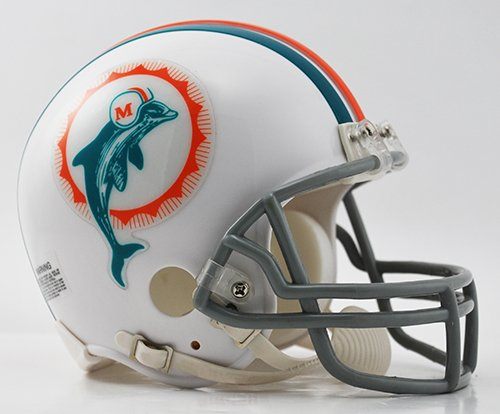 Miami Dolphins 1972 Throwback Riddell Mini Football Helmet