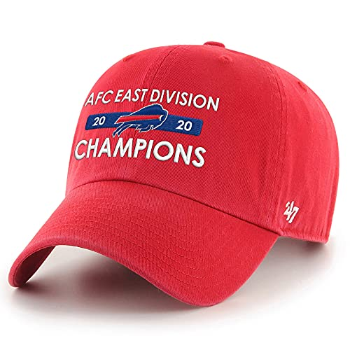 '47 Men's Red Buffalo Bills 2020 AFC East Division Champions Clean Up Adjustable Hat