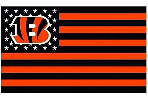 Cincinnati Bengals Stars and Stripes NFL Flag Banner - 3X5 FT - USA Flag