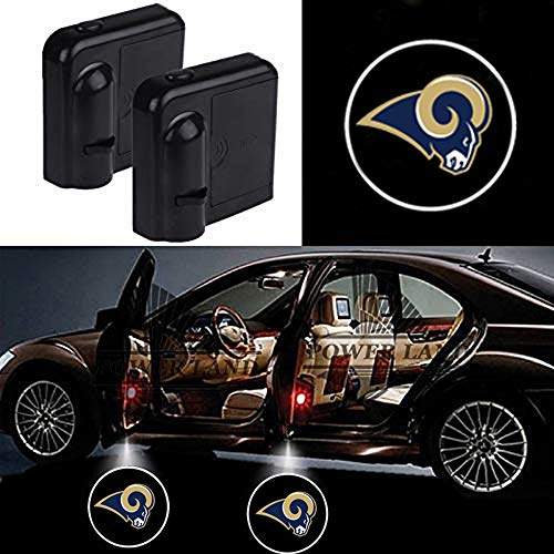 For Los Angeles Rams Car Door Led Welcome Laser Projector Car Door Courtesy Light Suitable Fit for all brands of cars