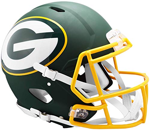Riddell NFL Green Bay Packers Full Size Authentic Helmetamp Alternate, Team Colors, One Size