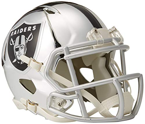 Riddell Speed NFL OAKLAND RAIDERS Football Helmet Chrome Mini