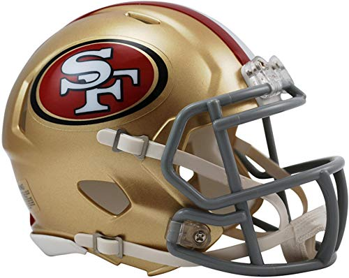 Riddell San Francisco 49ers Revolution Speed Mini Football Helmet - NFL Mini Helmets