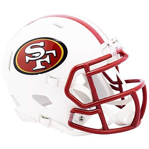 Riddell San Francisco 49ers White Flat Matte Alternate Speed Mini Football Helmet
