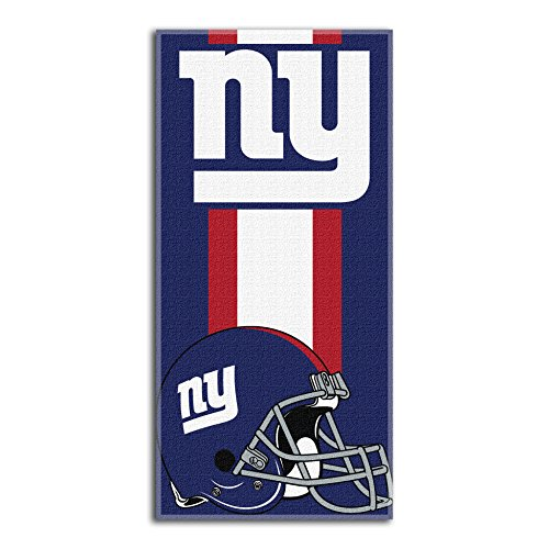 """Officially Licensed NFL New York Giants 'Zone Read' Beach Towel, 30"""" x 60"""", Multi Color"""