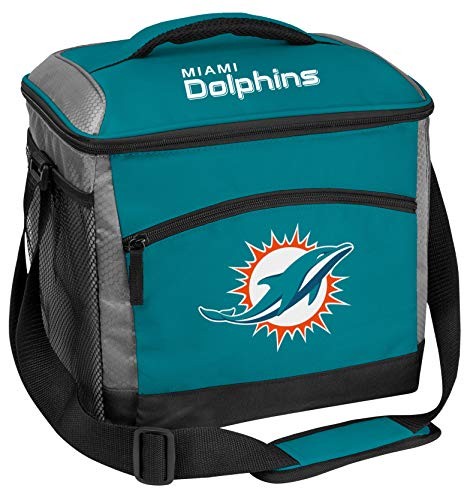 Rawlings NFL Soft-Sided Insulated Cooler Bag, 24-Can Capacity, Miami Dolphins