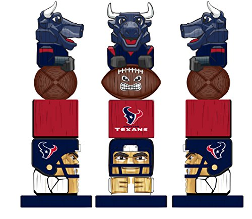 Team Sports America NFL Tiki Totems (16 Inches, Houston Texans)