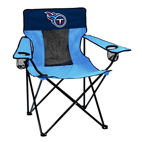 Logo Brands NFL Tennessee Titans Folding Elite Chair with Mesh Back and Carry Bag ,  Titan Blue,  One Size