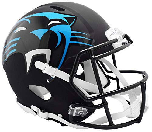 Riddell NFL Carolina Panthers Full Size Authentic Helmetamp Alternate, Team Colors, One Size