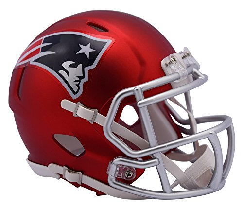 NFL New England Patriots Alternate Blaze Speed Mini Helmet