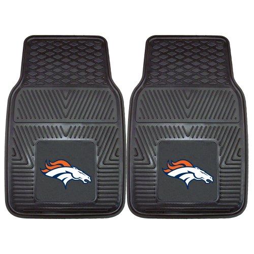 FANMATS NFL Denver Broncos Vinyl Heavy Duty Car Mat,18'x27'