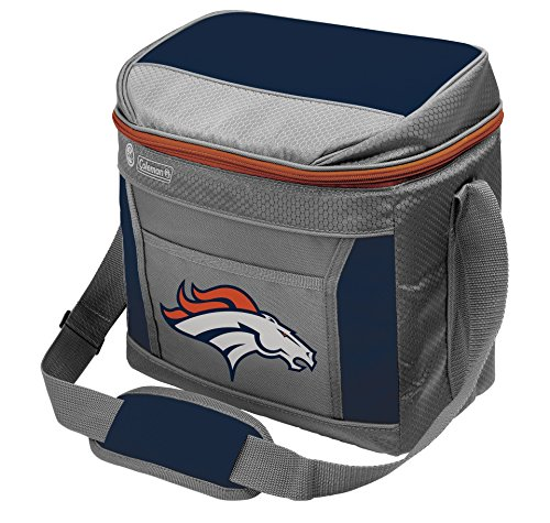 Coleman NFL Soft-Sided Insulated Cooler and Lunch Box Bag, 9-Can Capacity, Denver Broncos