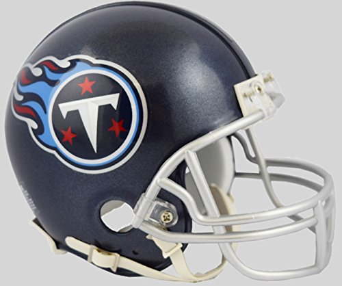 Tennessee Titans 2018 Satin Navy Metallic Riddell Mini Helmet